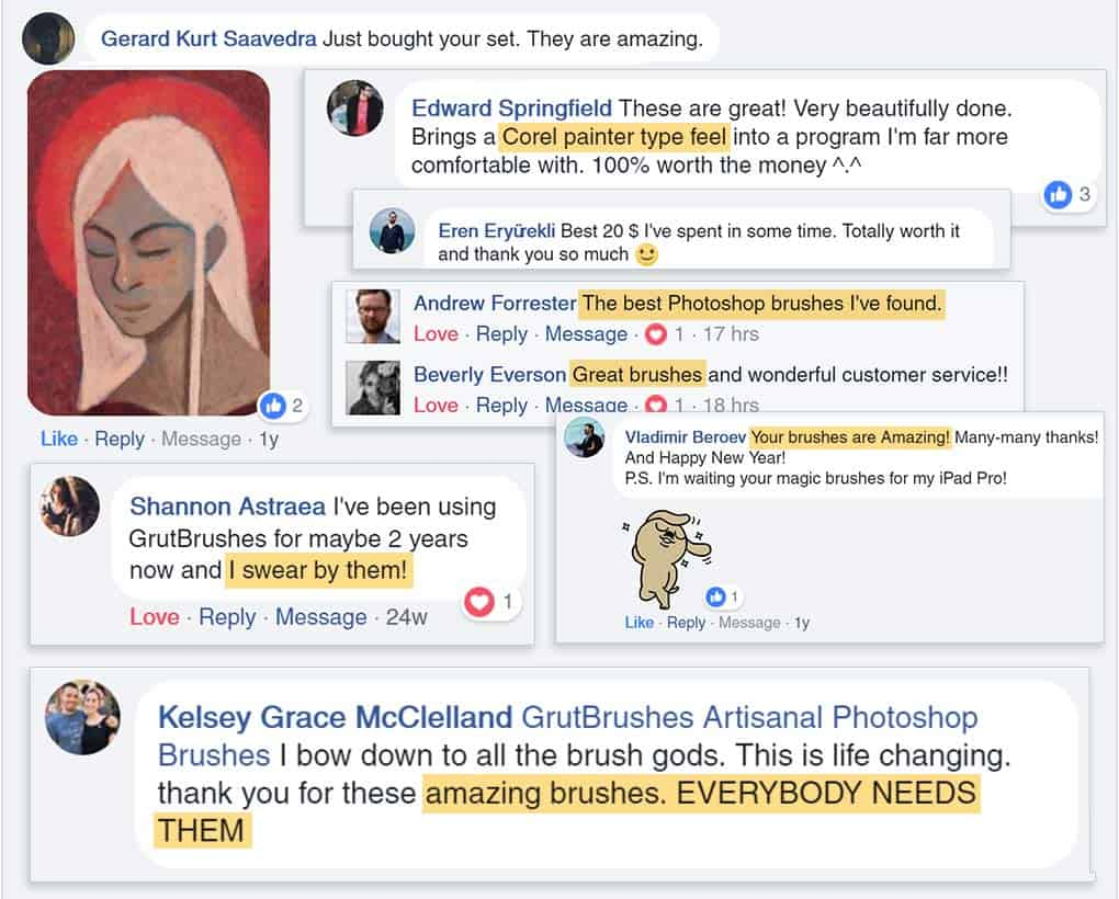 GrutBrushes reviews on facebook