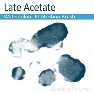 Photoshop Watercolour Brush for digital artists 'Late Acetate'