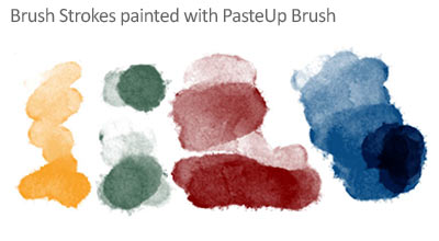 Pasteup - Natural Watercolour Photoshop Brush