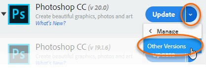 you can re-install older versions of Photoshop