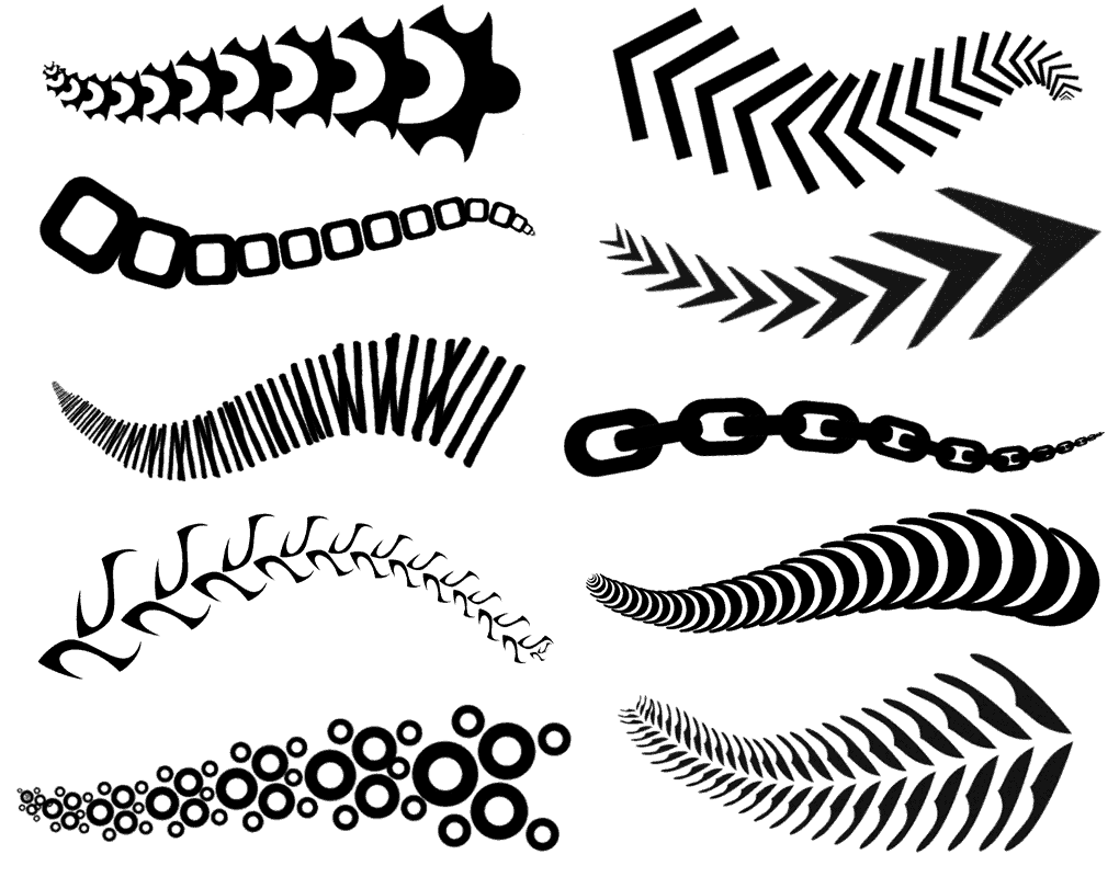 10 More Photoshop pattern brushes
