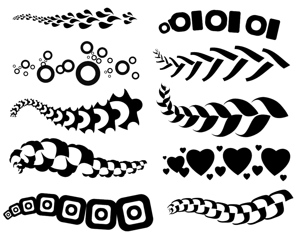 10 Photoshop pattern brushes