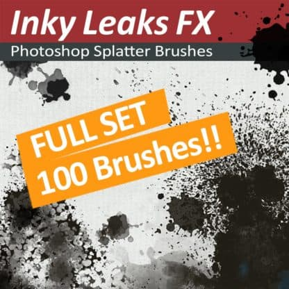 100 Photoshop splatter brushes
