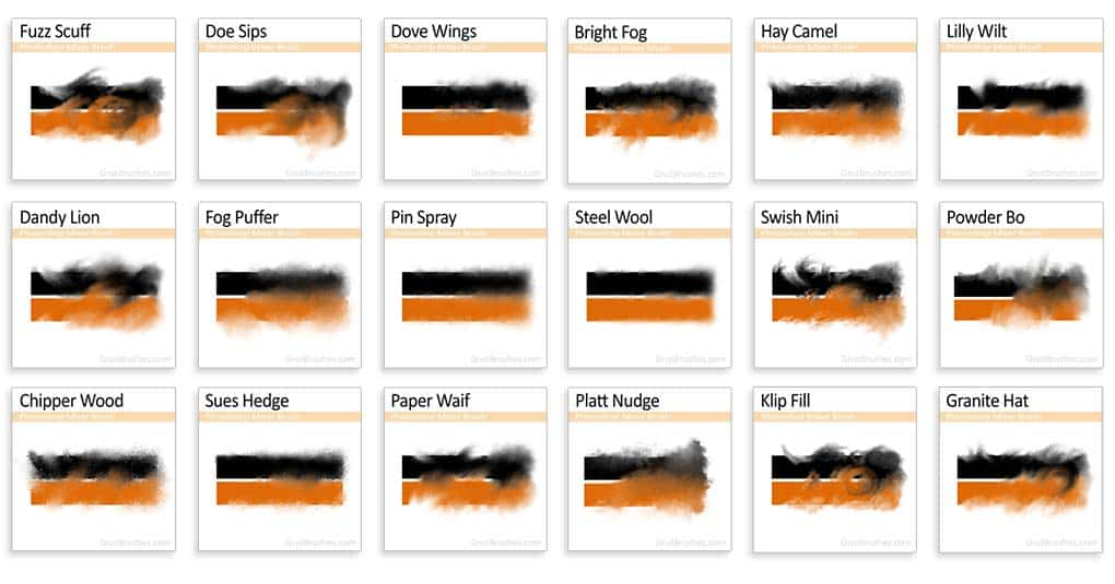 18 Photoshop mixer/blender brushes