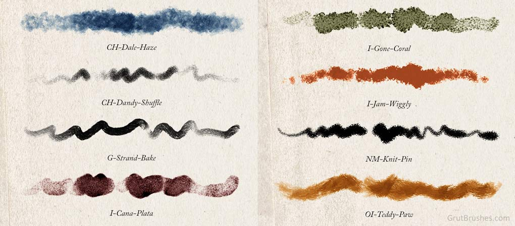 8 Natural Media Photoshop Brushes for Digital Painting