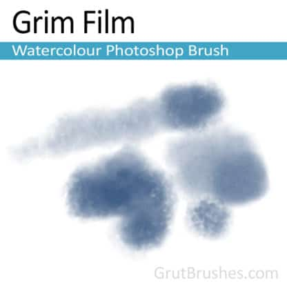 Photoshop Watercolor Brush for digital artists 'Grim Film'