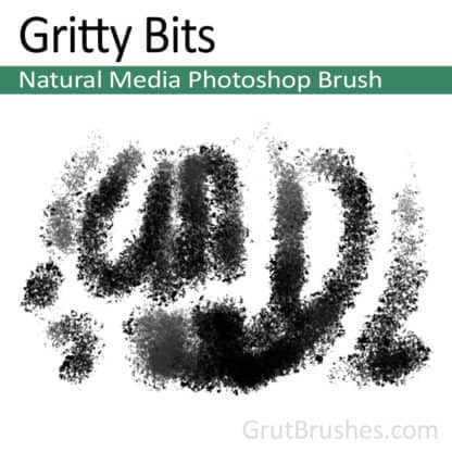 Gritty Bits - Photoshop Natural Media Brush