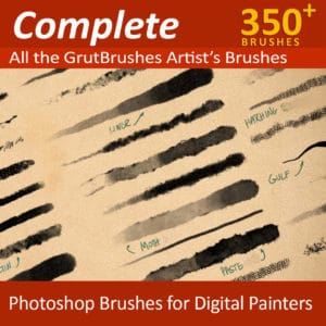 350 Photoshop brushes for digital painters