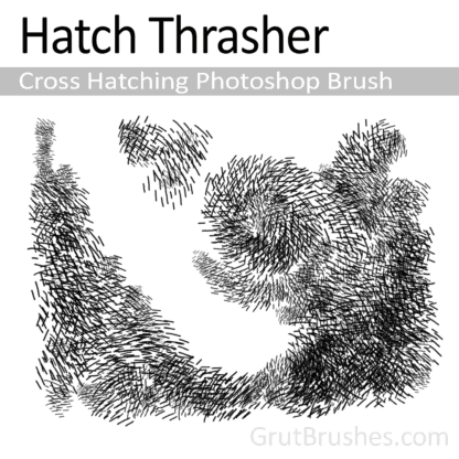 Hatch Thrasher - Cross Hatching Photoshop Brush