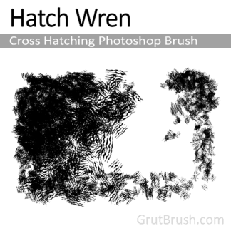 Hatch Wren - Cross Hatching Photoshop Brush