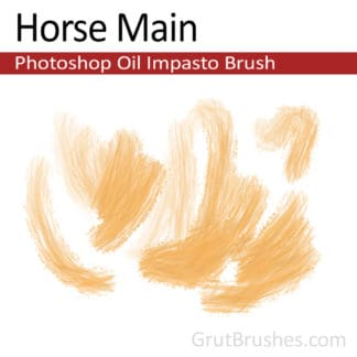 Horse Main - Impasto Oil Photoshop Brush