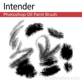 Photoshop Oil Brush for digital artists 'Intender'