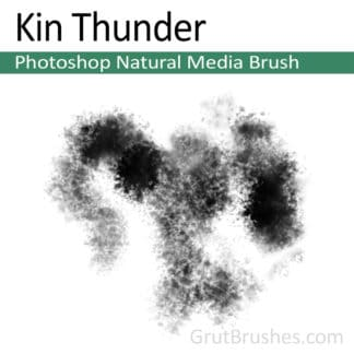 Photoshop Natural Media Brush for digital artists 'Kin Thunder'