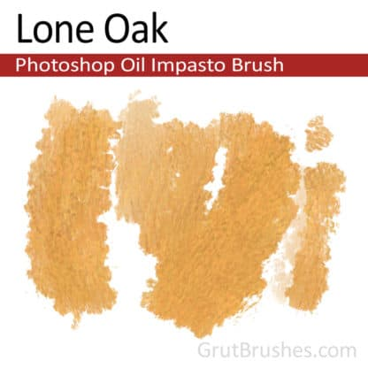 Lone Oak - Impasto Oil Photoshop Brush