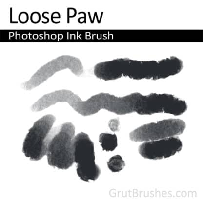 Photoshop Ink Brush for digital artists 'Loose Paw'