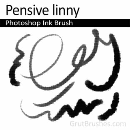 Pensive Linny - Photoshop Ink Brush