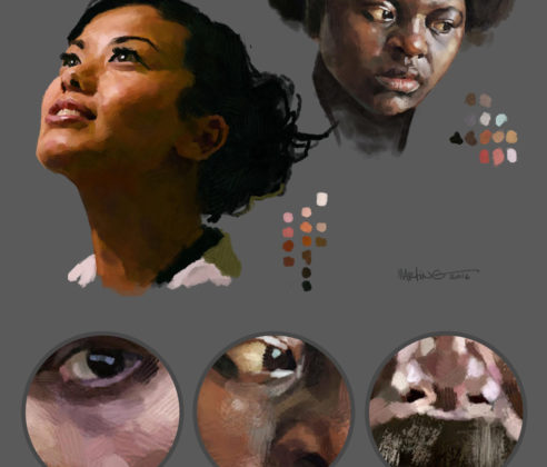 Photoshop-Oil-Impasto-Painting-Faces-detail-By-Martin-Guldbaek