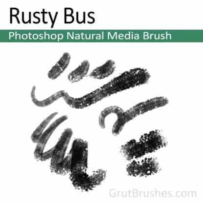 Photoshop Natural Media Brush for digital artists 'Rusty Bus'