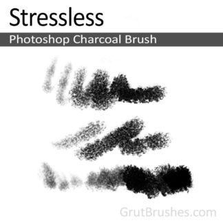 Photoshop Charcoal Brush for digital artists 'Stressless'