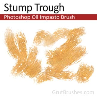 Stump Trough - Impasto Oil Photoshop Brush