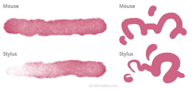Difference between painting with a stylus and a mouse
